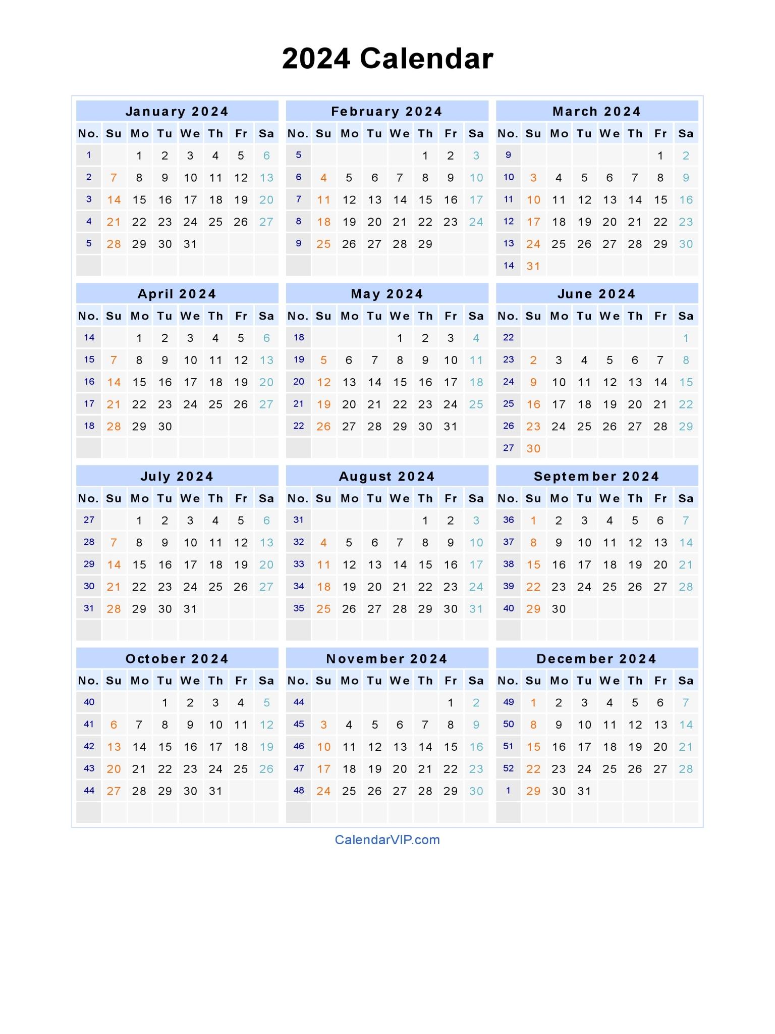 2024 calendar