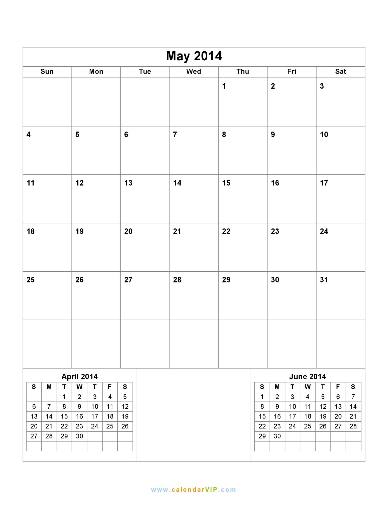 May 2014 calendar blank printable calendar template in pdf word excel may 2014 calendar saigontimesfo