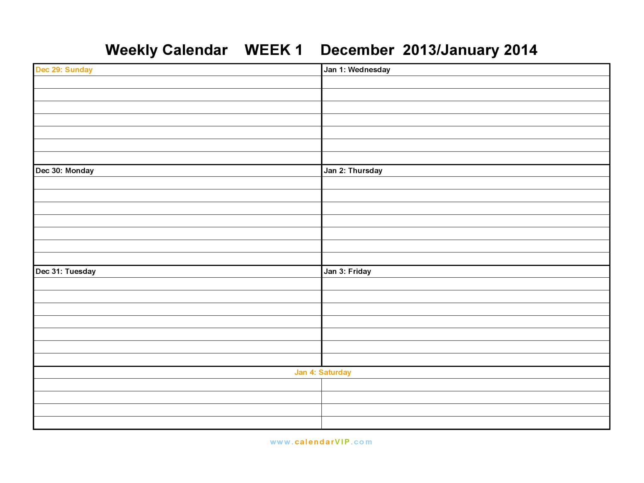 ... August 2014 Weekly Calendar Printable Free No Charge To Print Schedule