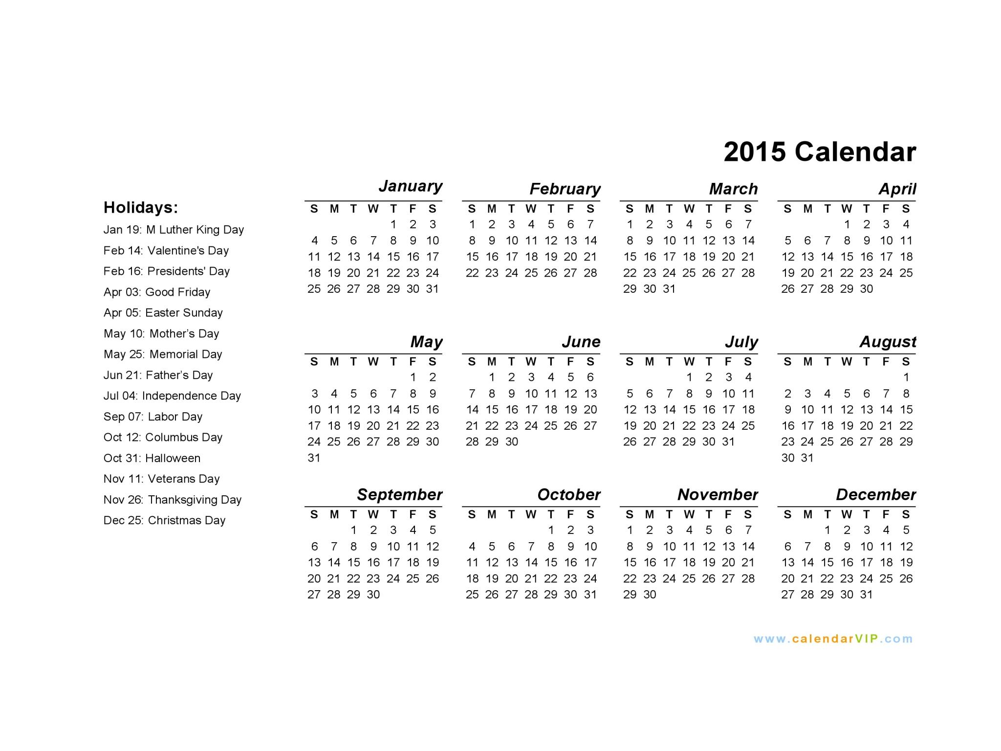Calendar Template 2015 Word 2017 Printable Calendar