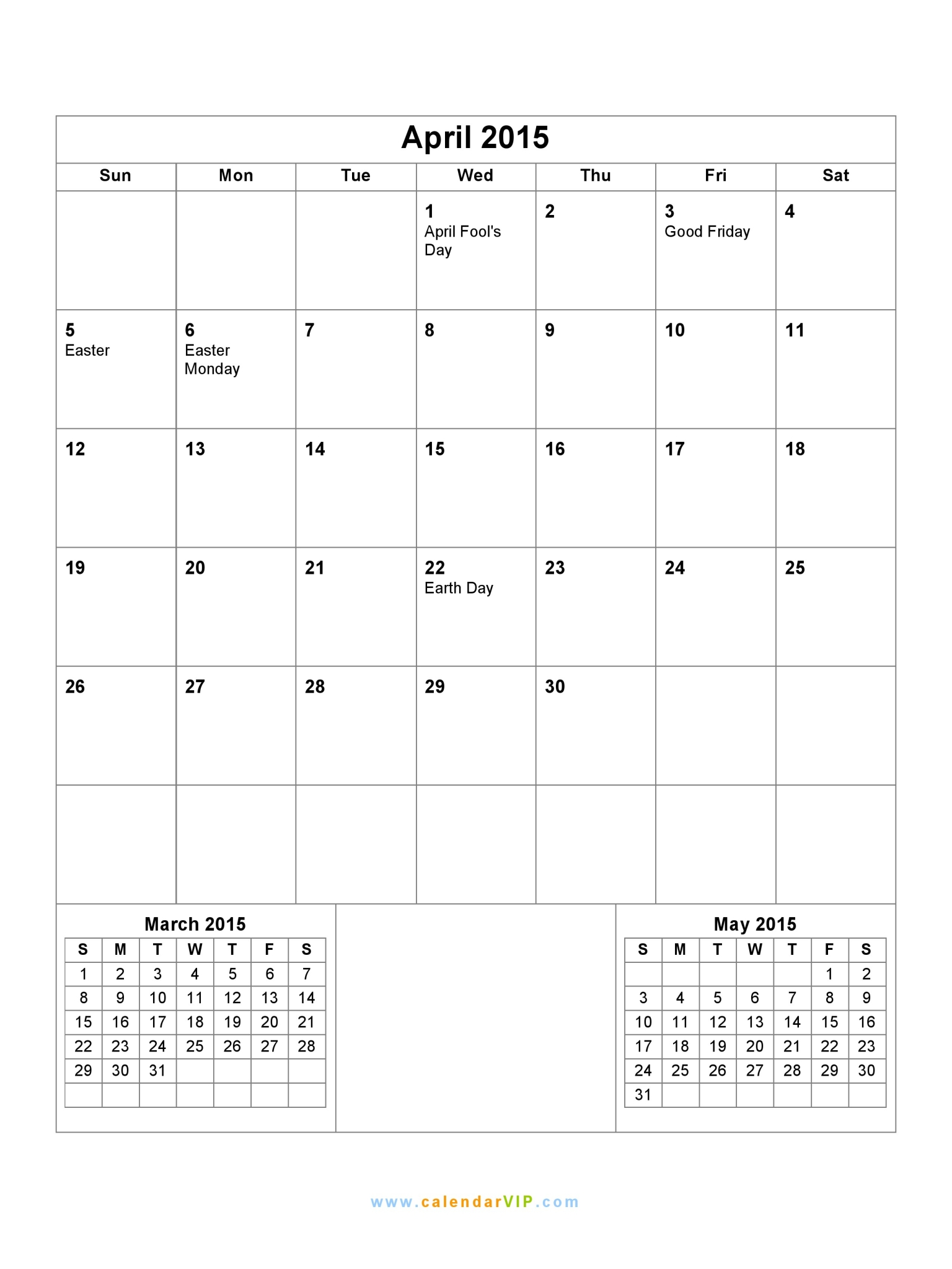 Results Calendar April : Printable april calendar page search results