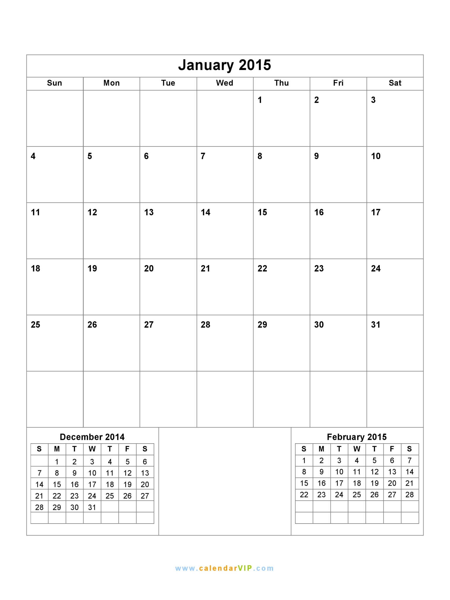 January 2015 calendar blank printable calendar template for 2015 monthly calendar template for word