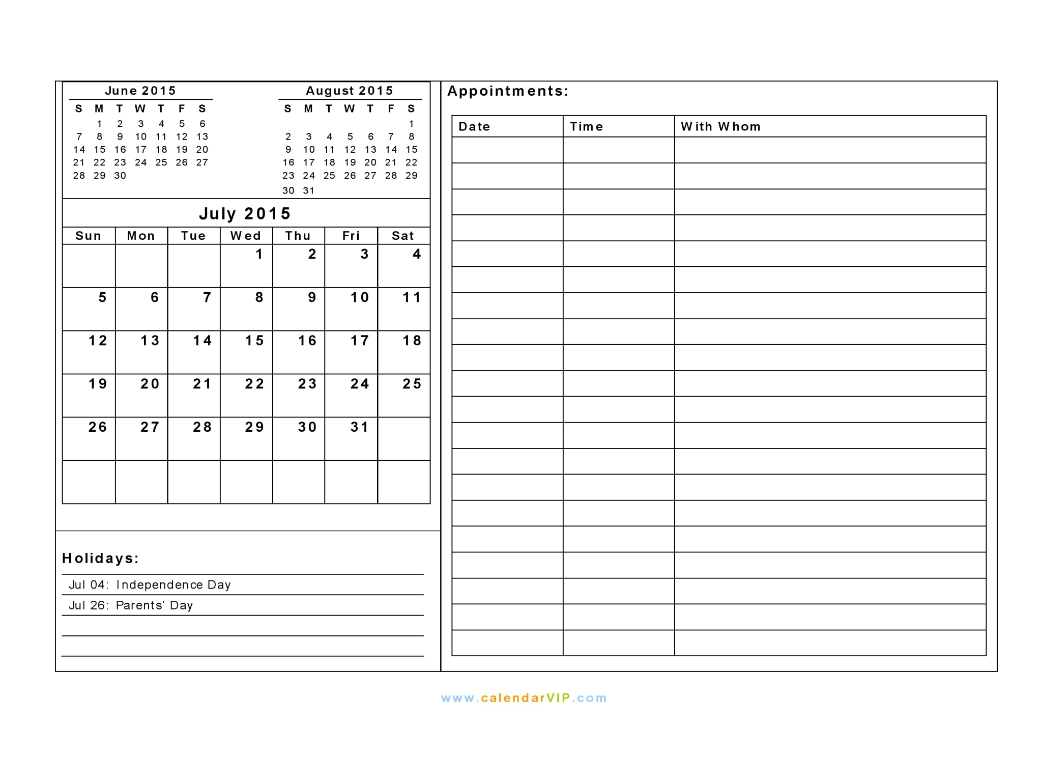 july 2015 calendar blank printable calendar template in pdf word excel