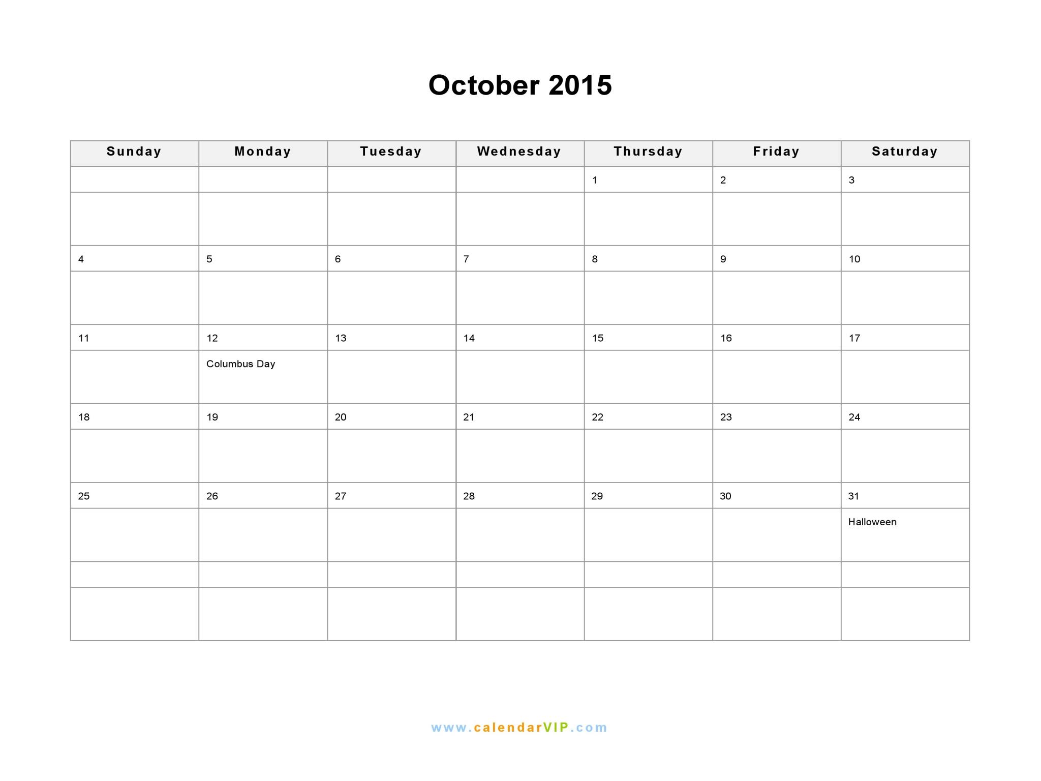 November 2015 Printable Workout Calendar   Calendar Template 2016