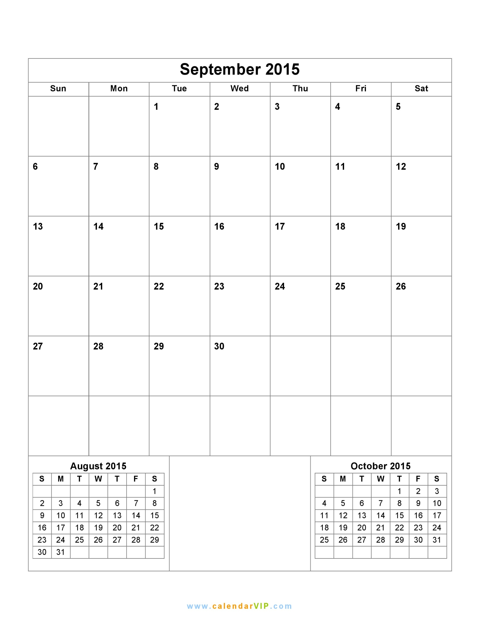 september 2015 calendar blank printable calendar template in pdf